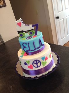 Roller Skating themed cake
