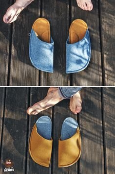 Christmas gift idea for family members. Handmade slippers for all family members. #matchingfamily #christmasgift #forfamily #familylmembers #giftideas Yellow Slippers, Men's Slippers, Felted Slippers, Christmas Gifts For Parents, Unique Christmas Gifts, Gifts For Mom, Cozy Home Office, Office Decor, Kindle Case
