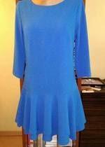 niebieska sukienka tunika z falbaną nowa