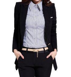 b3672d719e ZimaesWomen Long Sleeve Plus Size MidLength Slim Blazer Outerwear Black XS      More info