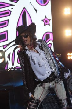 """The Demon of Screamin """"Steven Tyler""""!! Always sporting his amazing style and beautiful smile that can warm the heart of anyone."""