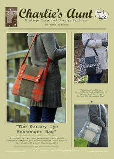 Sewing pattern to make the Kersey Tye Messenger by charliesaunt