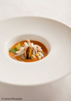Le Nuvole's Cacciucco alla livornese - Livornese style fish soup with mussels, squid, shrimp and red mullets