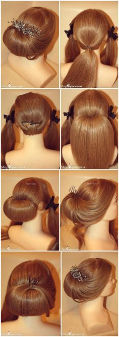 Geflochtene Frisuren - 13 Easy & Quick Hairstyles To Look Elegance In Parties - Step By Step . Easy Hairstyles For Medium Hair, Step By Step Hairstyles, Quick Hairstyles, Braided Hairstyles, Wedding Hairstyles, Girl Hairstyles, Graduation Hairstyles, Short Hair Styles Easy, Hair Videos