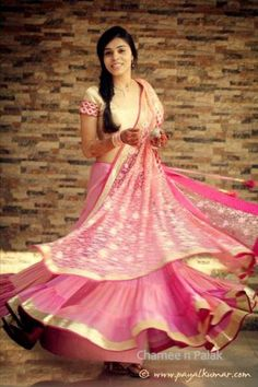 light pink and cream, pink and gold, flowy lehenga , sister of the groom, sister of the bride, brides sister,Chamee and Palak
