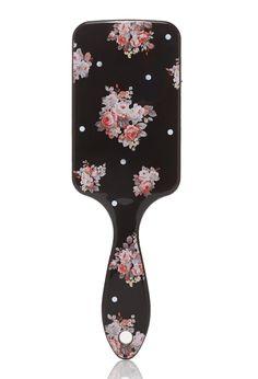 Rose Print Paddle Brush | FOREVER21 - 1000117243