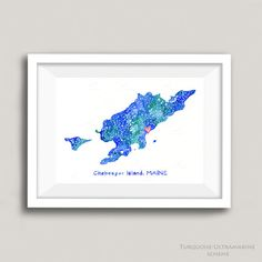 Chebeague Island Map Painting Personalized Map Art