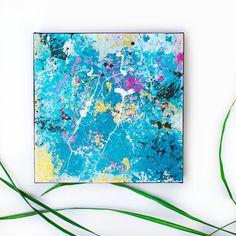 "The Blues #7, Caroline Heroux, Acrylic, 10""x10"""
