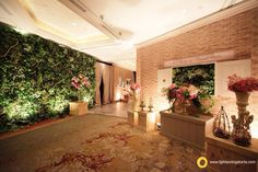 Imagine if you dont use lighting in your wedding decoration you welcoming your friends and family with warm and beautiful foyer decoration by lotus design and junglespirit Gallery