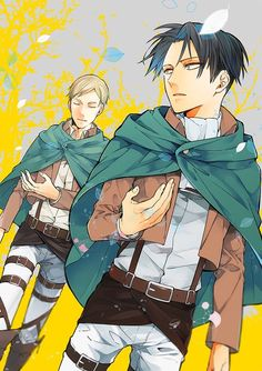 Erwin Smith x Levi Shingeki no Kyojin Attack on Titan