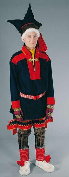 Utsjoki national costume - Utsjoen puku | Sami Duodji ry Culture Club, Ethnic Outfits, Folk Costume, Ethnic Fashion, People Around The World, Costumes For Women, Traditional Dresses, Samara, Anthropology