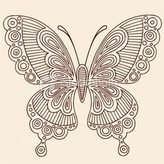 Illustration of Hand-Drawn Butterfly Henna Mehndi Paisley Doodle Outline Vector Illustration Design Element vector art, clipart and stock vectors. Paisley Doodle, Henna Doodle, Henna Butterfly, Butterfly Outline, Butterfly Design, Butterfly Pattern, Quilling Butterfly, Henna Mehndi, Henna Art