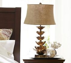 Lotus Flower Table Lamp Base #potterybarn   I'm thinking that my living room needs this