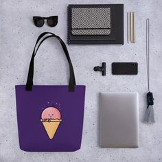 For the love of ice cream :) Custom Tote Bags, Icecream, Totes, Reusable Tote Bags, Ice Cream, Bags, Big Bags