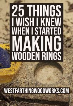 This is 25 things I wish I knew when I started making wooden rings. Making wooden rings is an awesome hobby, and it's easier than you may think to get started. These are all the things I wish I knew… Wooden Rings, Wooden Jewelry, Wood Joints, Small Wood Projects, How To Make Rings, Woodworking Projects, Woodworking Education, Woodworking Beginner, Woodworking Techniques