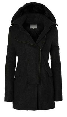 *Pre-Order* Fleece Pea Coat with Removable Hoodie