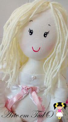 boneca gravida de tecido