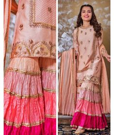 Paired with dupatta and Sharara which define with color - Designer Dresses Couture Shadi Dresses, Pakistani Formal Dresses, Pakistani Dress Design, Pakistani Fashion Party Wear, Pakistani Wedding Outfits, Lehenga Wedding, Sharara Designs, Kurti Designs Party Wear, Dress Indian Style