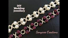 XOXO Beaded Bracelet Wedding Jewelry in 10 Minutes  DIY - YouTube