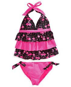 Angel Beach Girls' 2-Piece Halter Tankini Swimsuit - Kids Swimwear - Macy's for alayna, size 8. she picked this one after looking online at 6 different websites