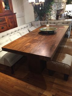 Wood Table With Natural Characteristics Of The Tree