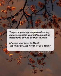 Muslim Quotes, Islamic Quotes, Let You Down, Let It Be, Relationship Quotes, Life Quotes, Stop Complaining, Quran, Allah