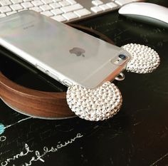 Urcover stylish mickey mouse bling ear smartphone case for iPhone 6 , 6s , 6 Plus , 6s Plus silver