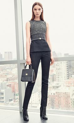 HUGO BOSS - Discover elegant clothing, classic shoes and exclusive accessories for women by HUGO BOSS in the official online store. Boss Top, Elegant Outfit, Black Pattern, Hugo Boss, Modern Design, Jumpsuit, Womens Fashion, Clothes, Shopping