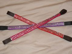 straight diamante browbands