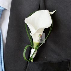 Best Man Groom Boutonniere Wedding  Flower Pin Brooch White Calla  Decoration | eBay