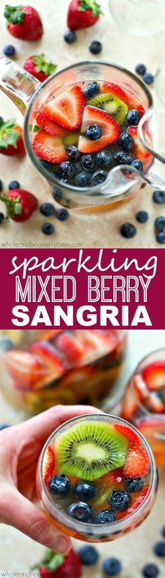 Sparkling Mixed Berry Kiwi Sangria