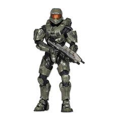 This detailed action figure is a special tribute to Halo's super-soldier extraordinaire, Master Chief! Master Chief Costume, Halo Halloween, Figurines D'action, Halo Collection, Halo Master Chief, Games Stop, Super Soldier, Kids Store, Street Fighter