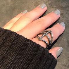 Diamond statement ring to keep us cozy on a rainy day!