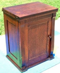 The Project Lady: How-to re-store old sewing machine cabinet ...