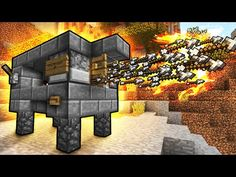 Flaming Arrow Machine Gun! – Minecraft Tutorial (Fast & Easy) - YouTube