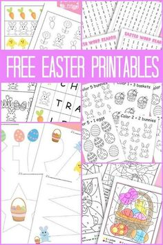 A Bunch Of Easter Printables – Itsy Bitsy Fun Free Easter Printables for Kids Spring Activities, Holiday Activities, Easter Worksheets, Easter Coloring Pages Printable, Easter Colouring, Easter Crafts For Kids, Easter Activities For Children, Easter Ideas, Ideas