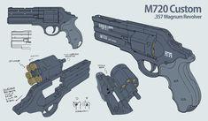 M720 Revolver Design Multiview - daisukekazama (Daisuke Kazama)