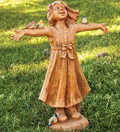 #Joyful Girl Statue