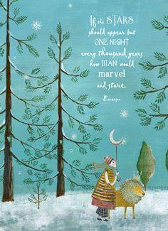 SALE  Holiday Cards..set of 6...by Pamela by PamelaZagarenski, $12.00