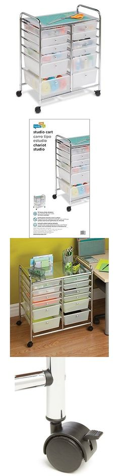 12 drawer rolling storage cart with heavy duty chrome steel frame for home