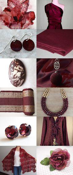 Magical Marsala (2015 Pantone Color Choice) by helenvitoria on Etsy--Pinned with TreasuryPin.com #etsy #etsyfind #marsala