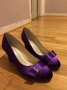 Deep purple weddingshoe