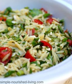 Weight Watchers Orzo Salad with Vegetables | Orzo Recipes: 14 Healthy and Absolutely Delicious Dishes by Homemade Recipes at  homemaderecipes.c...