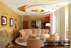 modern false ceiling design ideas for modern living room, modern gypsum ceiling