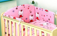 Pink hello #kitty #style 3pc nursery baby cot bed set #pillow + guilt cover/bumpe,  View more on the LINK: 	http://www.zeppy.io/product/gb/2/271137295734/