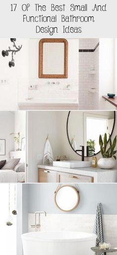 17 of The Best Small and Functional Bathroom Design Ideas - decorisme #tinybathroomPink #tinybathroomSquare #tinybathroomWhite #tinybathroomDoor #tinybathroomSpaceSaving