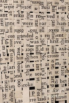 Words Photograph - Woven Words by Edward Fielding Wort Collage, Collage Art, Paper Weaving, Weaving Art, Kunstjournal Inspiration, Word Poster, Newspaper Art, Book Page Art, Altered Books