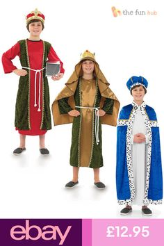 Gingerbread Man Costumes, Nativity Costumes, Boy Costumes, Wise Man Costume, King Costume, Childrens Fancy Dress, Fancy Dress For Kids, Mary And Joseph Costumes, Roald Dahl Fancy Dress