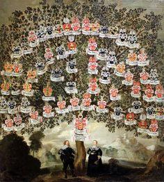 Ahnentafel von Maria Justina und Johann Maximilian zum Jungen, 1634, Städelsches Kunstinstitut und Städtische Galerie Frankfurt/Main, Verfasser unbekannt