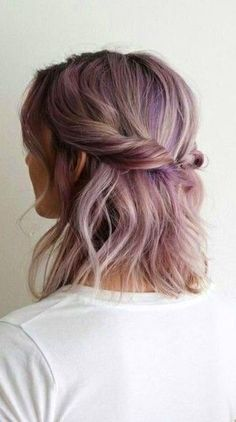 These 3 Cute Flat Twist Hairstyles Take Winning Prize – For Being Some Of The Best Back To School Styles Ever, Frisuren, Washed out purple hair colour with a twist. Twist Hairstyles, Pretty Hairstyles, Simple Hairstyles, Black Hairstyles, Summer Hairstyles, Hairstyles 2016, Medium Hairstyles, Latest Hairstyles, Good Hair Day